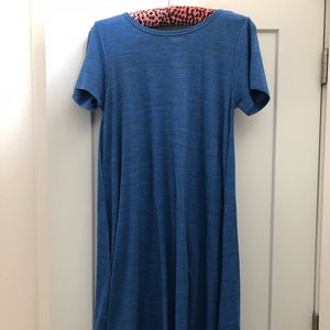 LuLaRoe Carly - Size Small - Solid Blue
